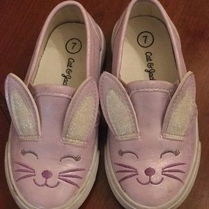 Toddler rabbit slip-ons shoes